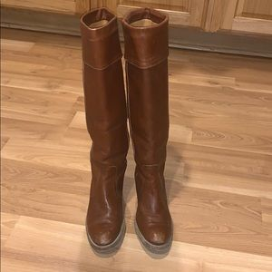 Frye tall boots brown leather size 8.5